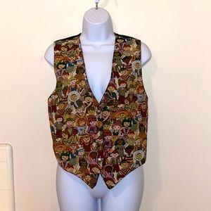 Vintage Women's CLIO Multicultural Festive Vest